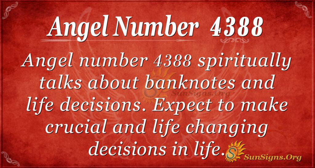 Angel number 4388