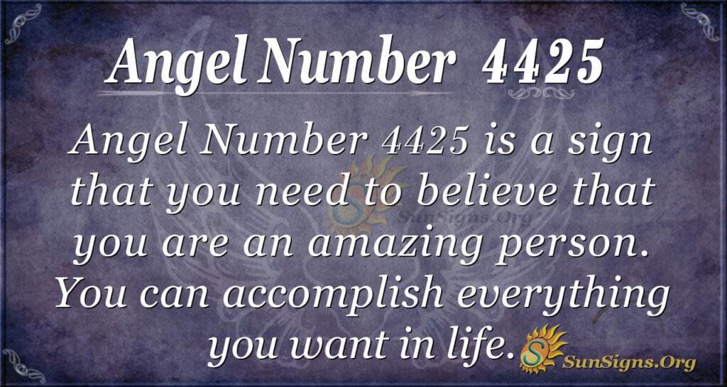 Angel number 4425