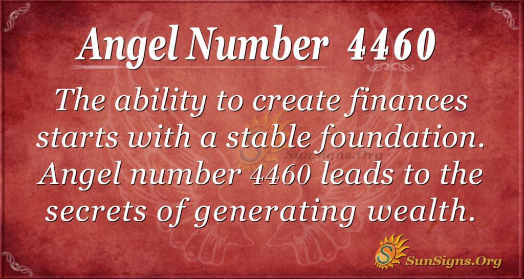 Angel number 4460