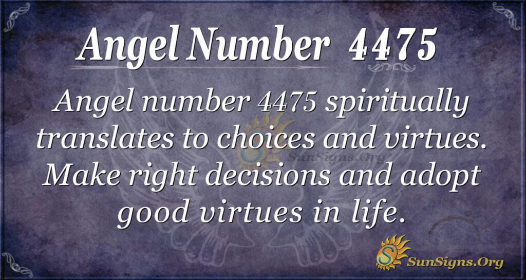 Angel number 4475