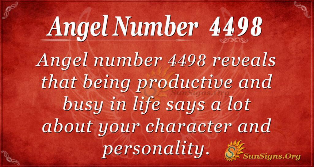 Angel number 4498