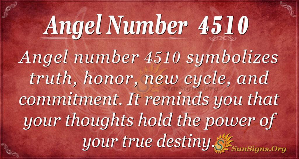 Angel Number 4510