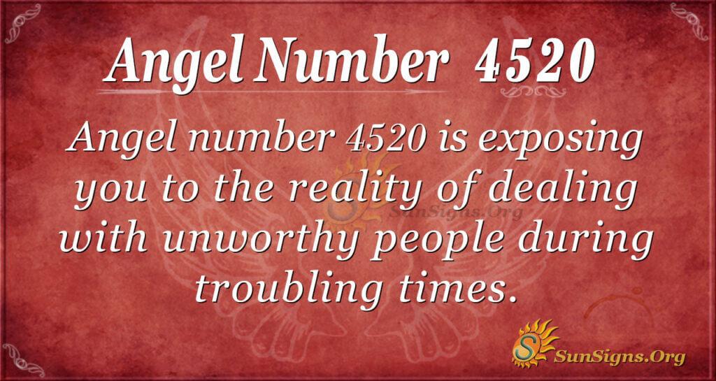 Angel number 4520