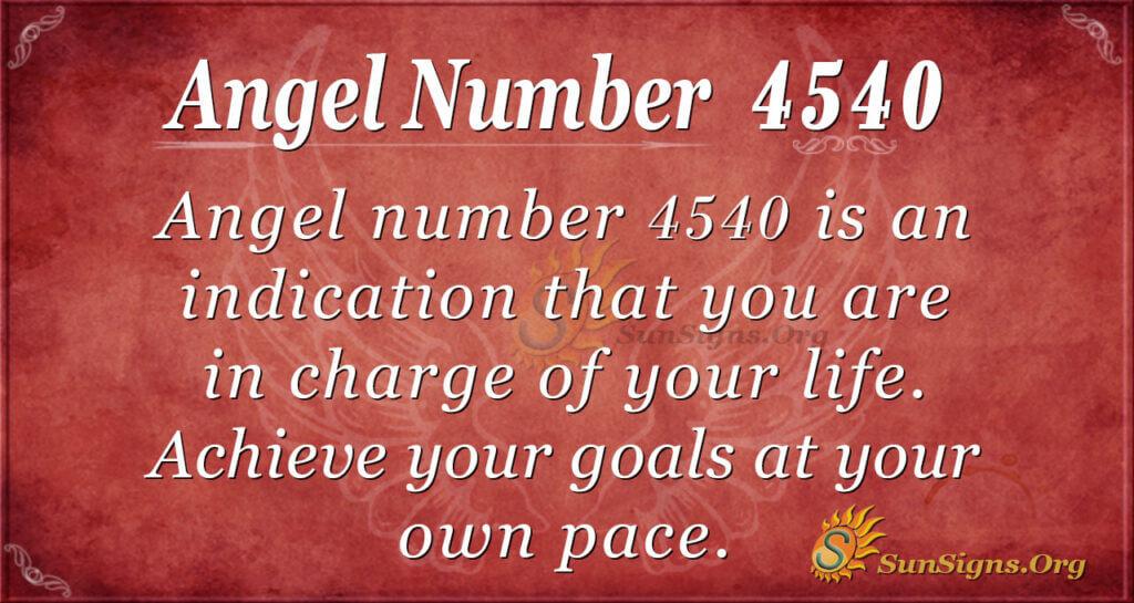 Angel number 4540