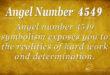 Angel Number 4549