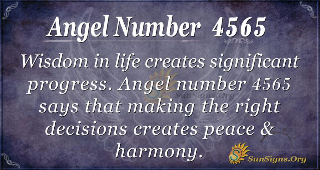 Angel number 4565