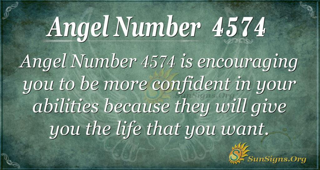 Angel number 4574