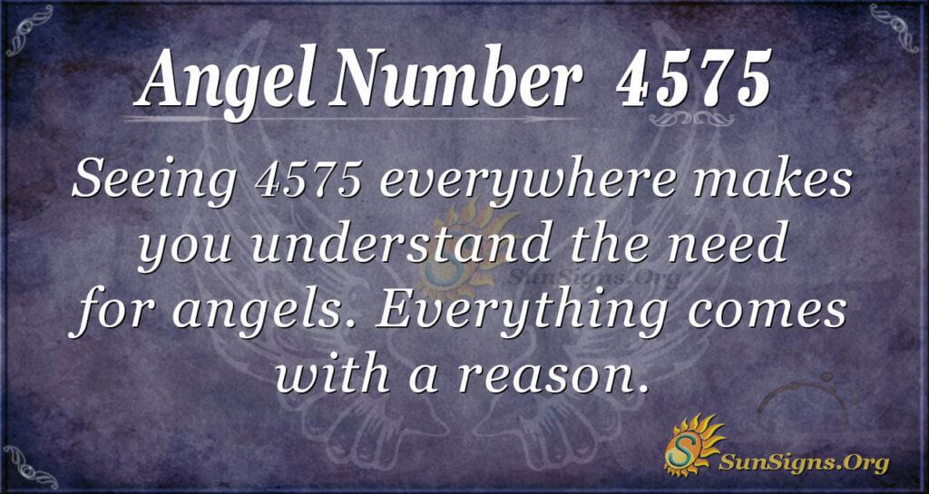 Angel number 4575