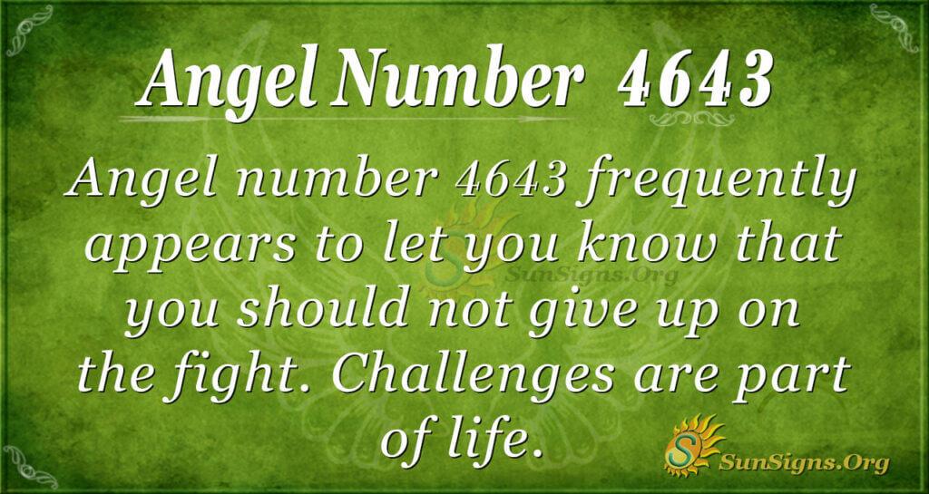 4643 angel number
