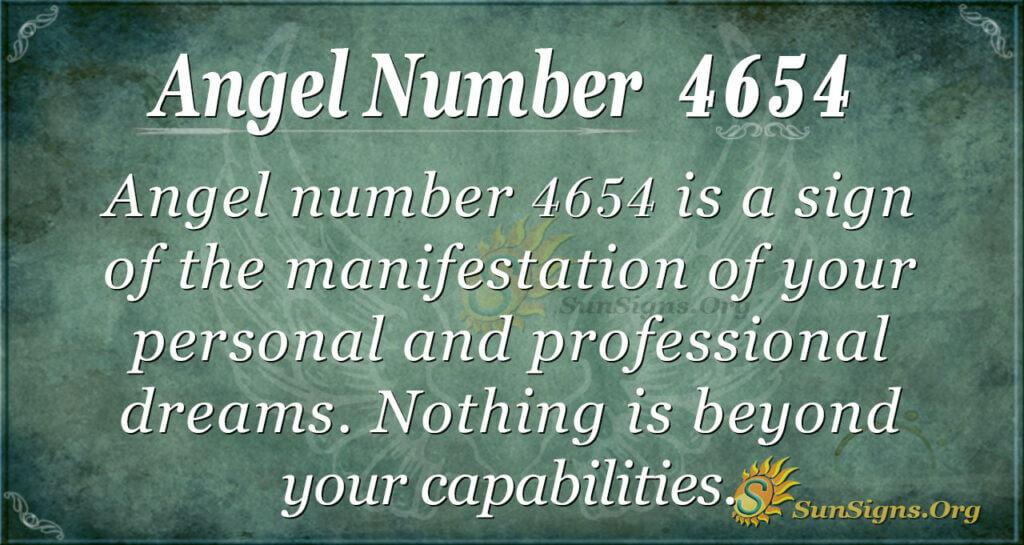 Angel number 4654