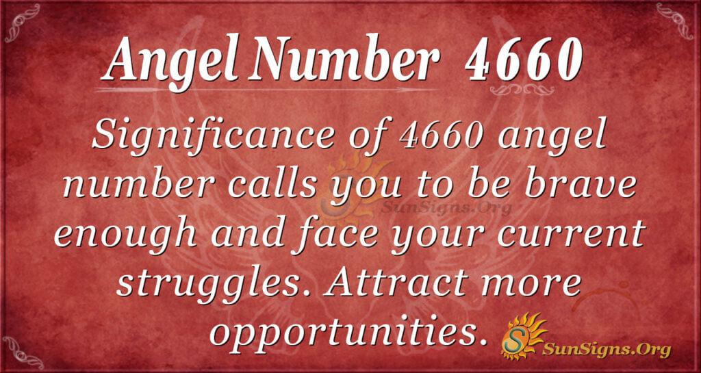 Angel Number 4660