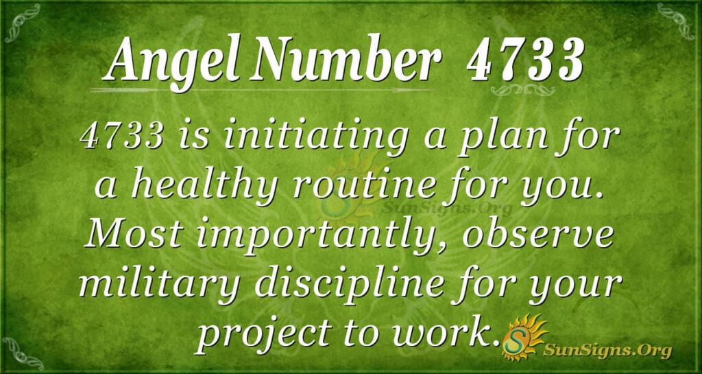 Angel number 4733