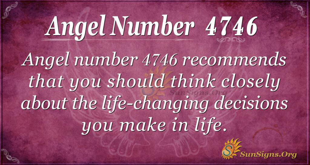 Angel number 4746