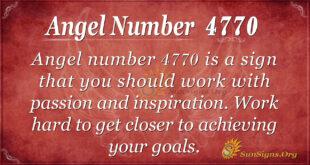 Angel number 4770