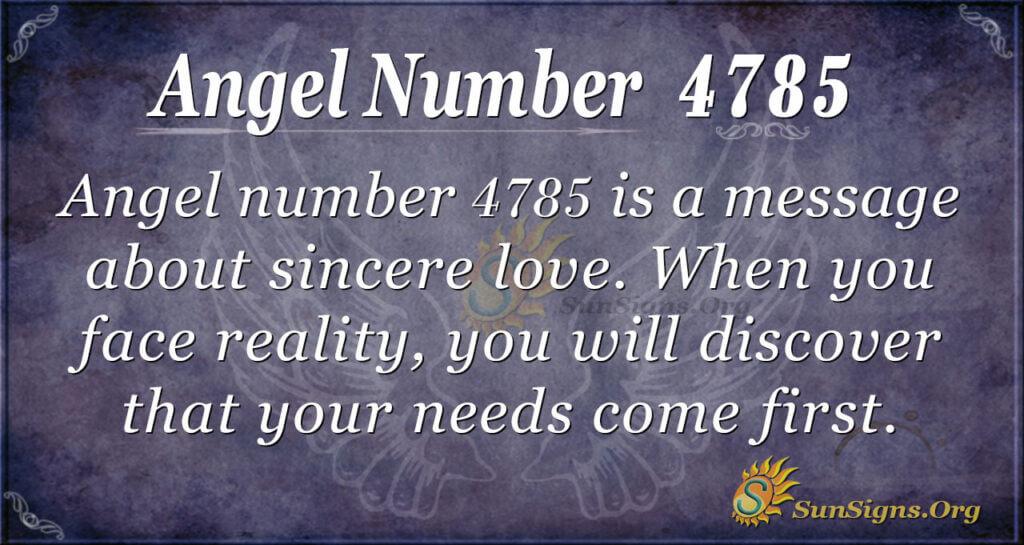 Angel number 4785