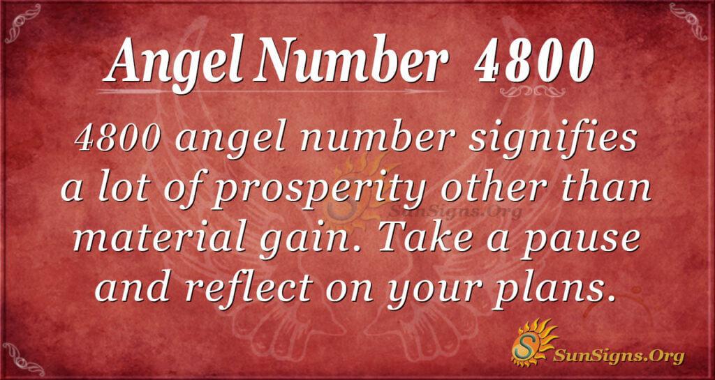 Angel number 4800