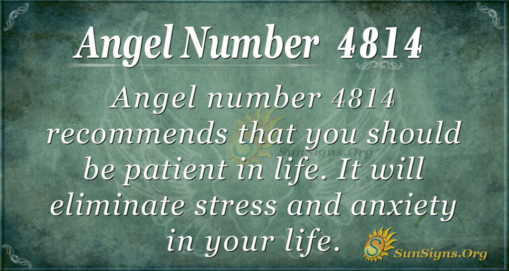 Angel number 4814