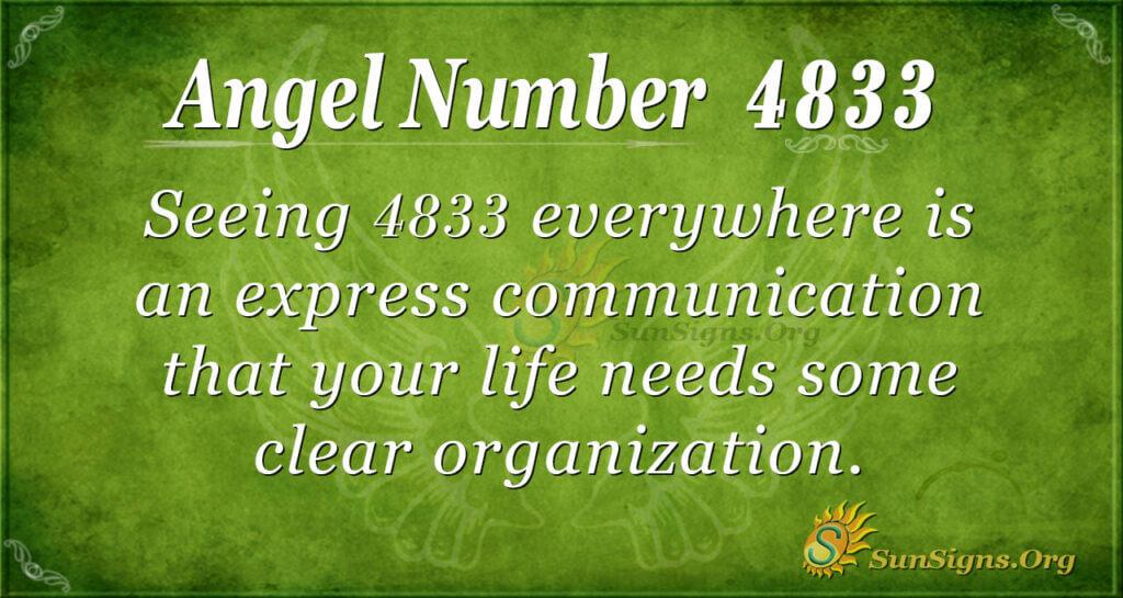 Angel number 4833
