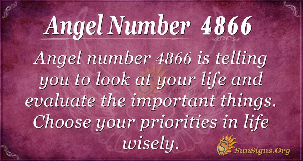 Angel number 4866