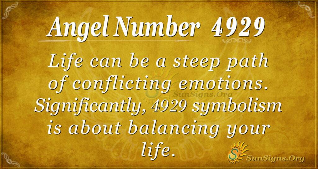 Angel number 4929