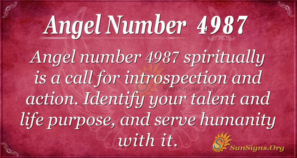 Angel number 4987
