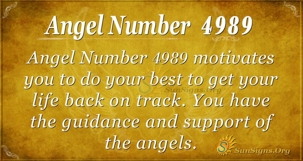 Angel number 4989