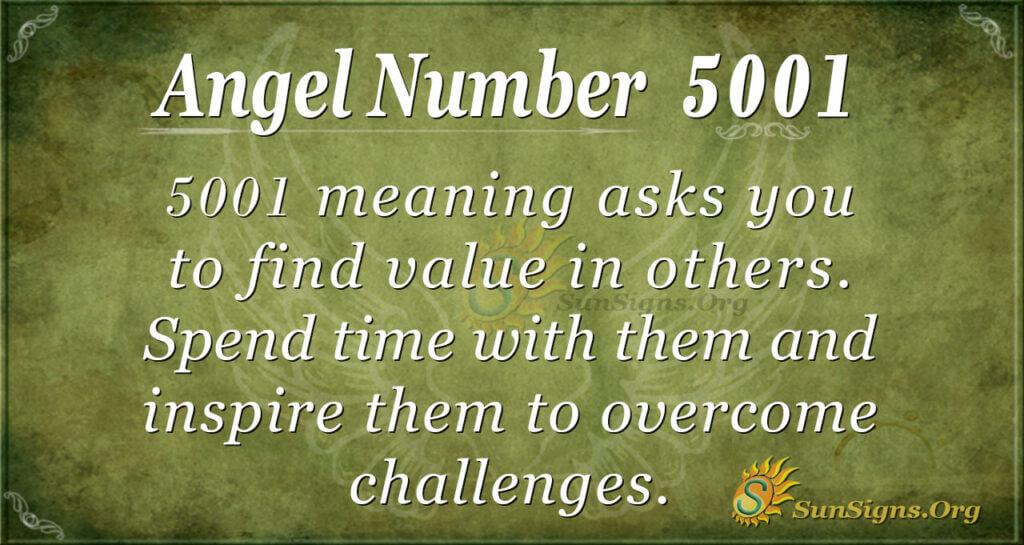 Angel Number 5001