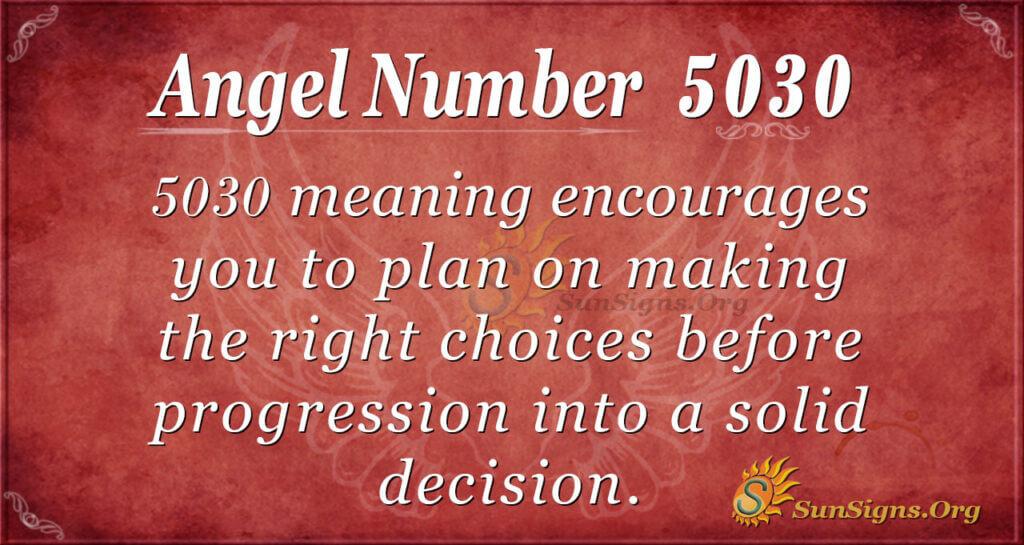 Angel Number 5030