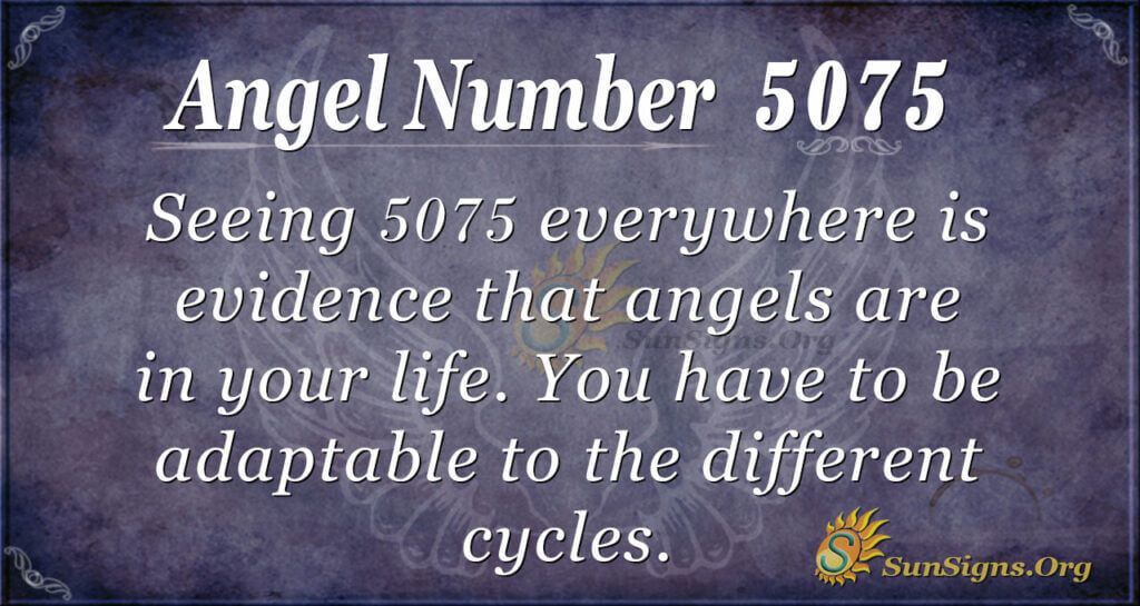 Angel number 5075