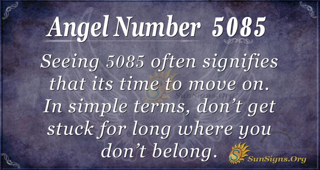 Angel Number 5085