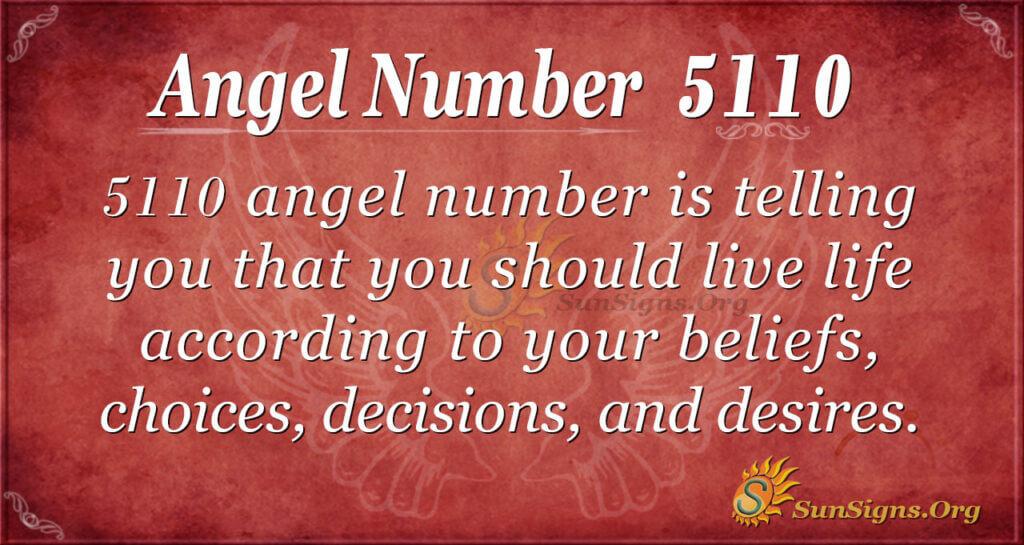 Angel number 5110