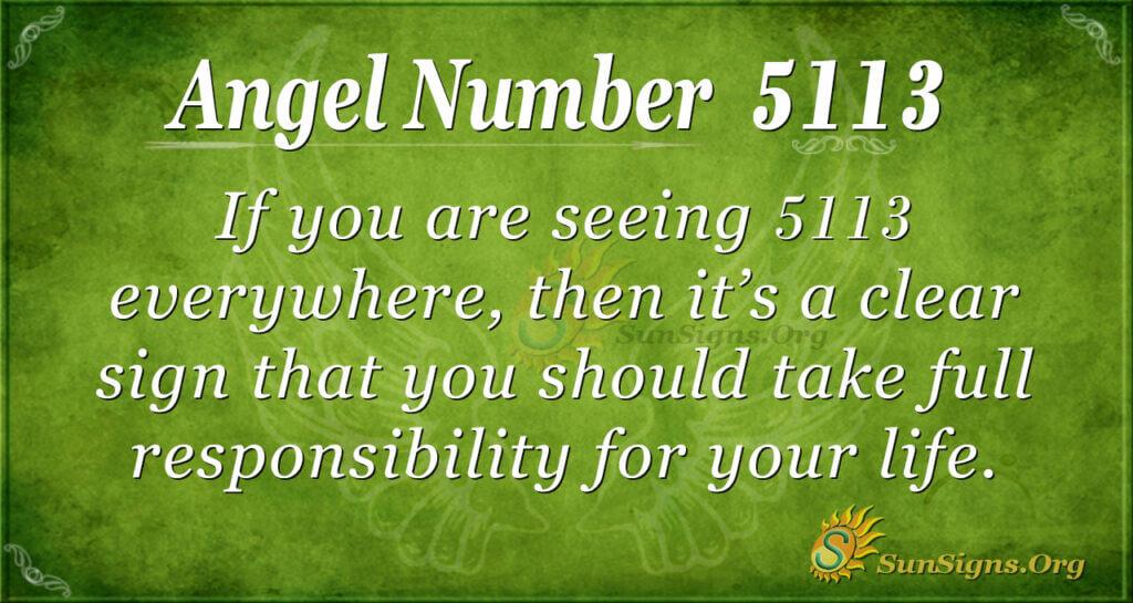 Angel Number 5113