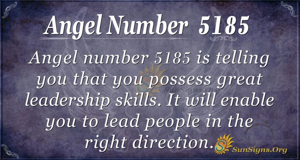 Angel number 5185