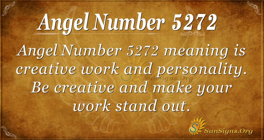 Angel number 5272