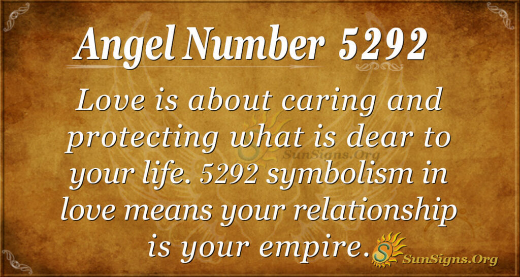 Angel number 5292