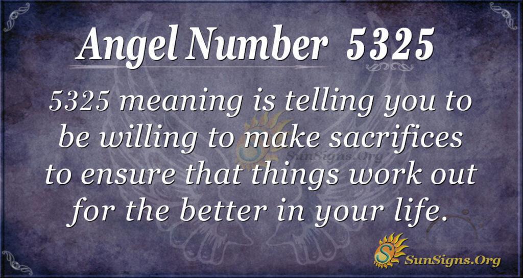 Angel Number 5325