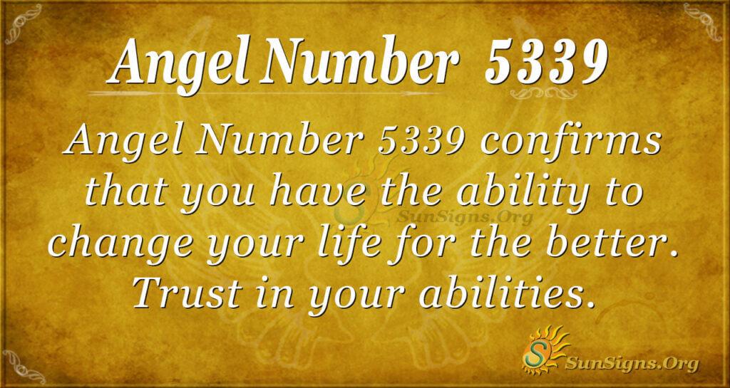 Angel number 5339