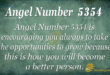 5354 angel number