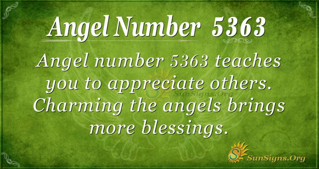 Angel number 5363