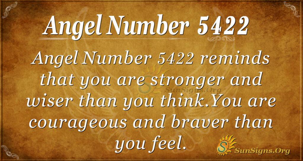 Angel number 5422