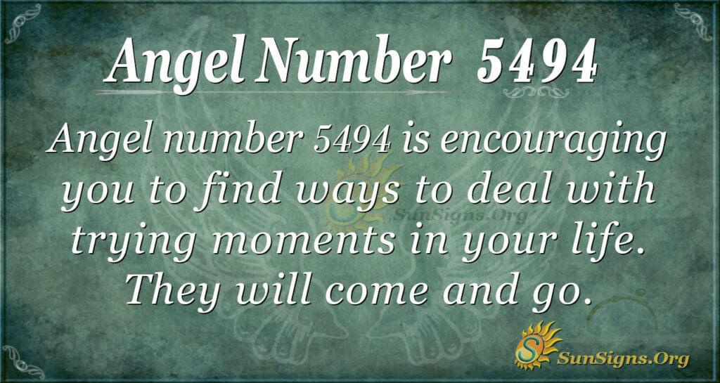Angel number 5494