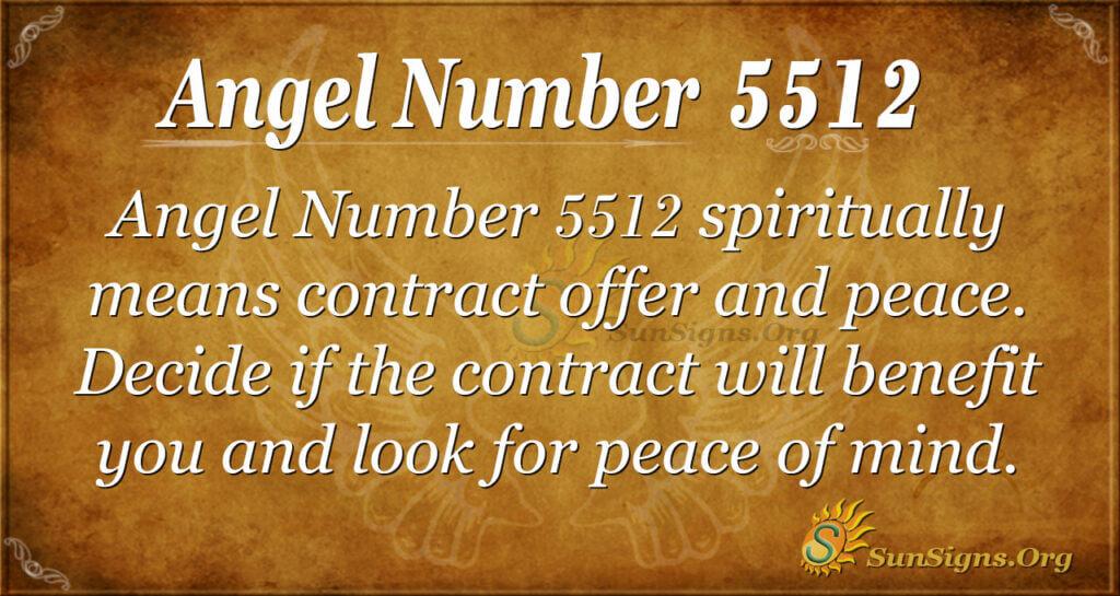 Angel number 5512