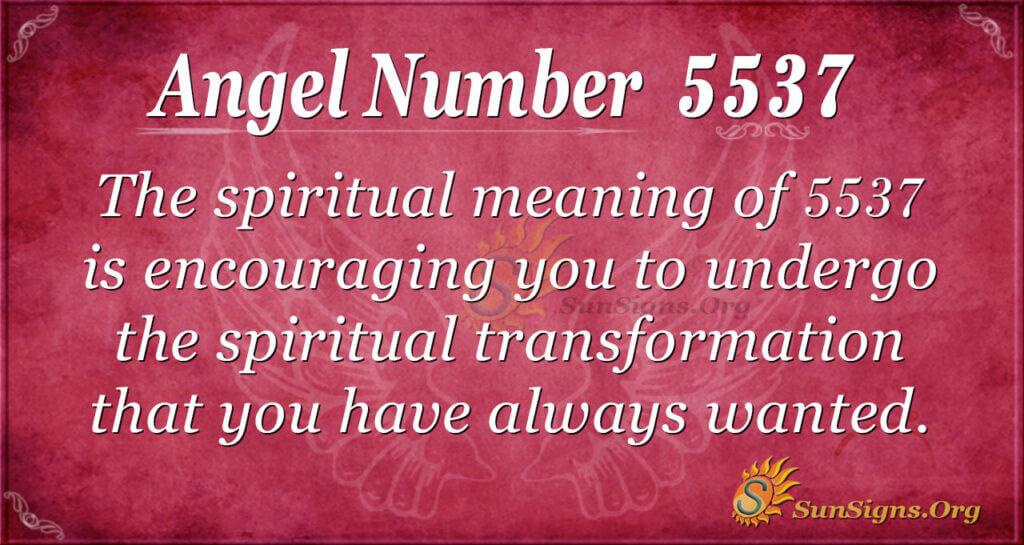 Angel number 5537