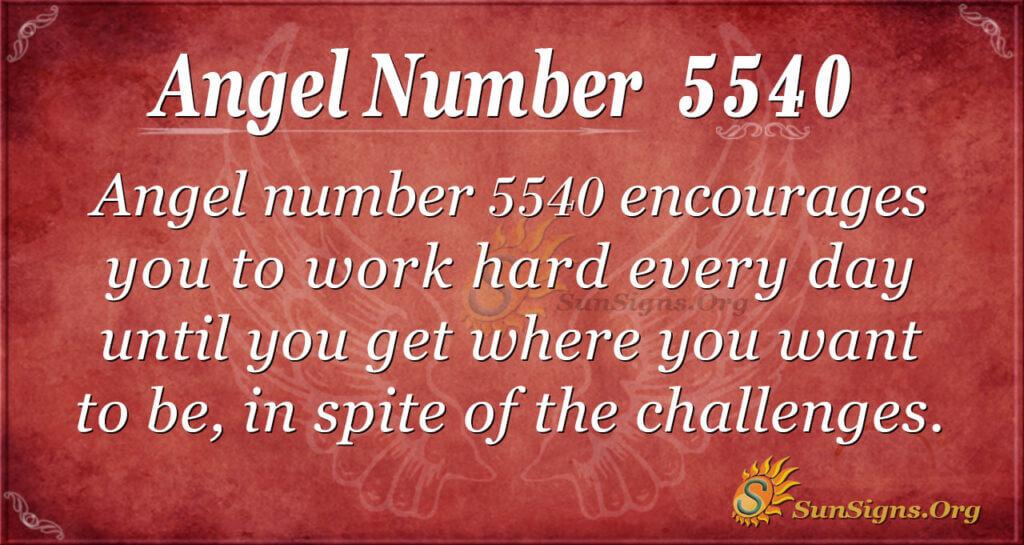 5540 angel number