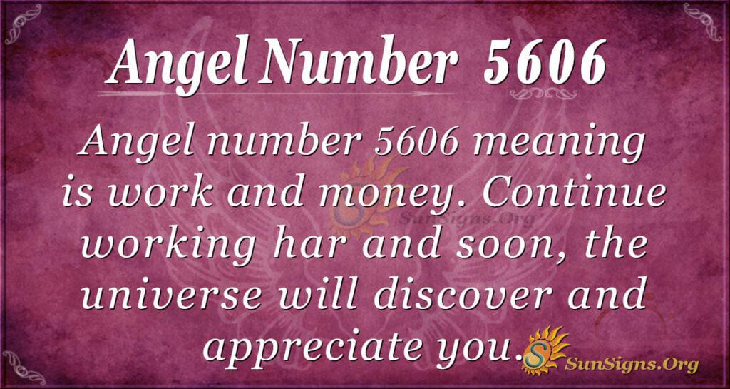 Angel number 5606
