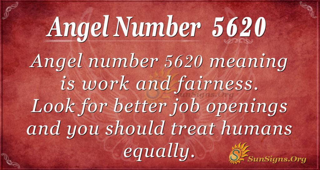 Angel number 5620