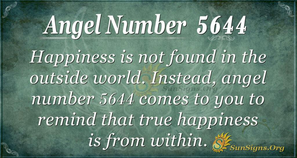 Angel number 5644