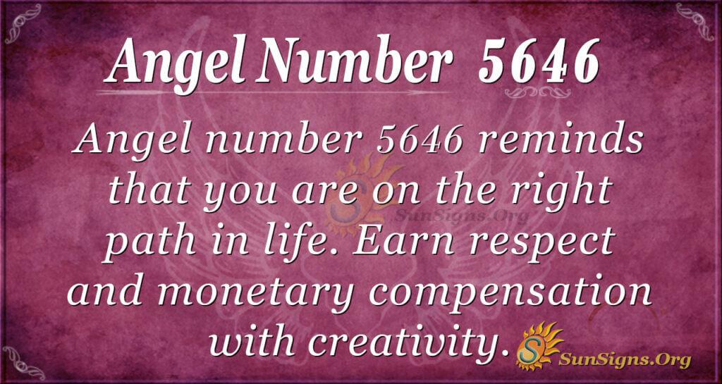 Angel number 5646