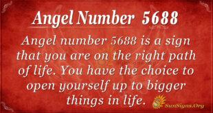 Angel number 5688