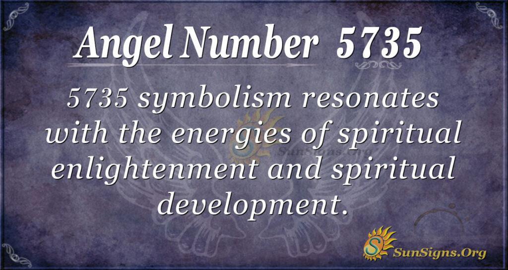 Angel number 5735